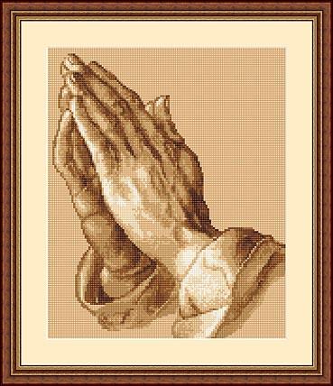 вышивания Молящие руки.